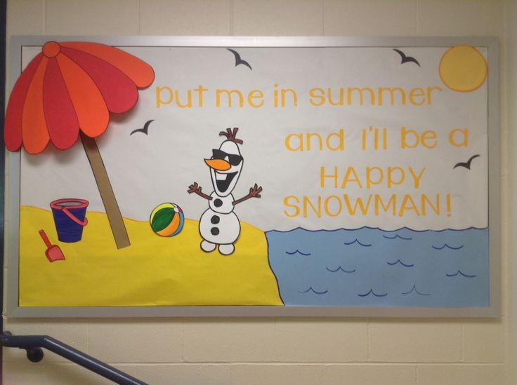 My Frozen themed bulletin board!
