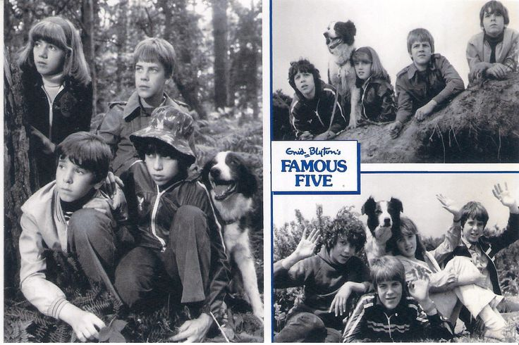 Famous Five collage post card