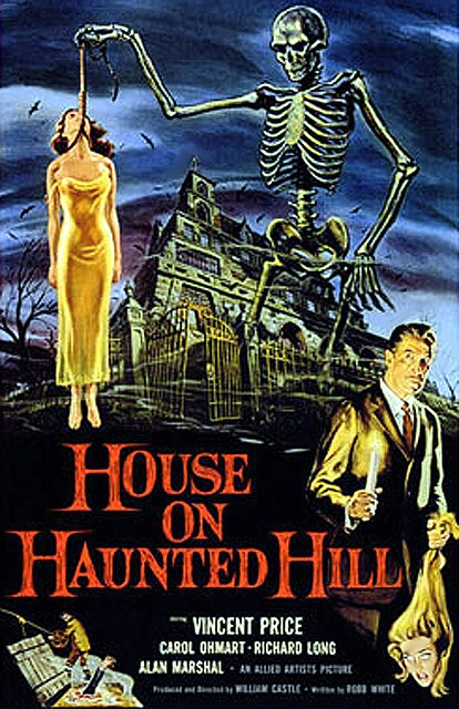 Original House on Haunted Hill with VINCENT PRICE! YESH! A little slow in the beginning, but it so does remind me of another great called 10 Little Indians.