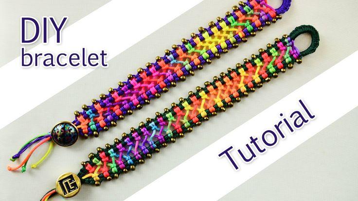 Easy Criss-Cross Bracelet Tutorial by Macrame School on Youtube