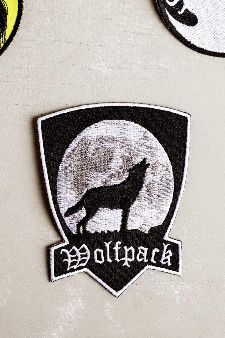 Wolfpack Embroidered Patch - Earthbound Trading Company - Earthbound Trading Co.