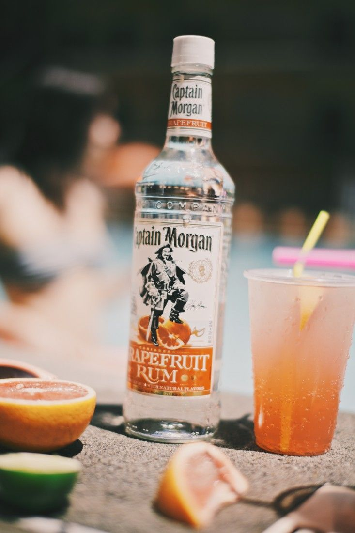 Starting Summer Off Right!!! Tasty Drink Recipe // Be Independent, be the Captain. Celebrate July 4th, Independence Day! Rum day!  Palomaloha Recipe 1.5oz Captain Morgan Grapefruit Rum Juice of a half Lime Grapefruit Soda to top