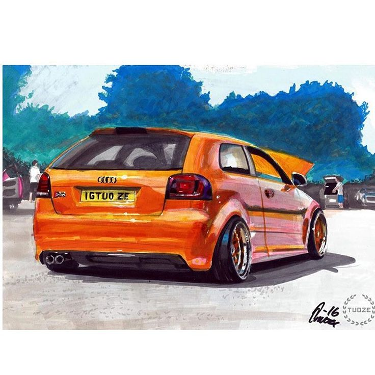 Audi A3 marker painting by Tuoze