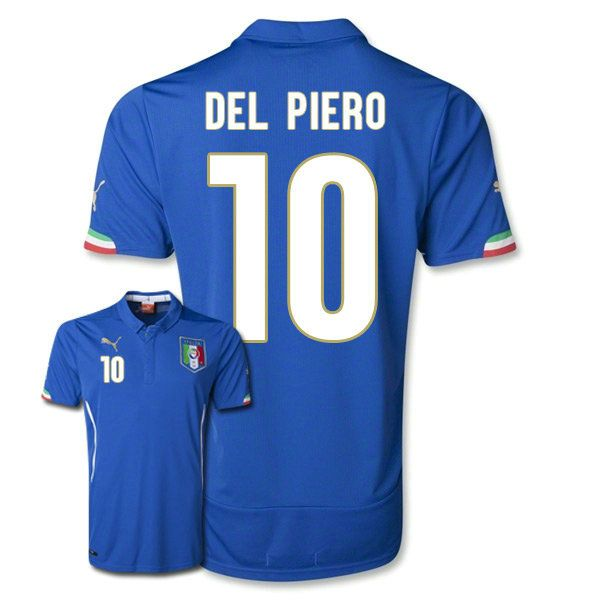 10 Italy Home Soccer Jersey for Del Piero