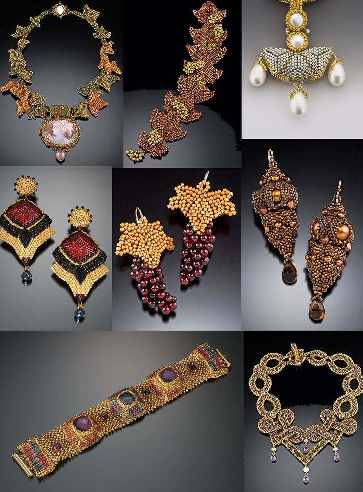 Gallery for Maggie Meister Bead Art to Wear, Inspired by Antiquity featured EyeCandy in Bead-Patterns.com Newsletter!