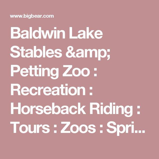 Baldwin Lake Stables & Petting Zoo : Recreation : Horseback Riding : Tours : Zoos : Spring Break : Big Bear Lake