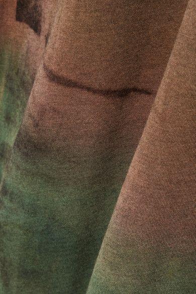 Raquel Allegra - Tie-dyed Stretch Cotton-jersey Maxi Dress - Brown -