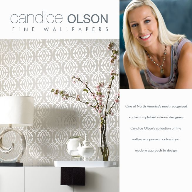 Candice Olson wallpaper site . . . A-Mazing designs and sophisticated patterns,