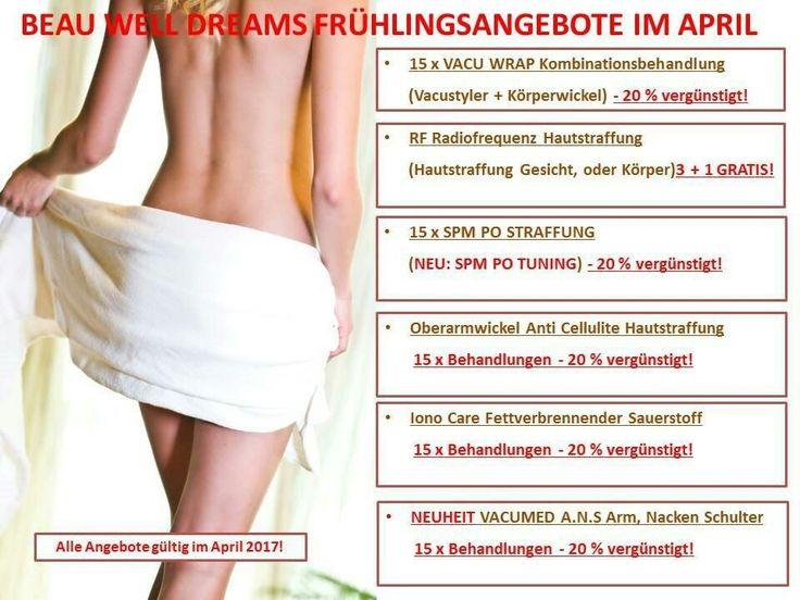 Frühlings Angebote im April bei Beau Well Dreams  www.beau-well-dreams.at