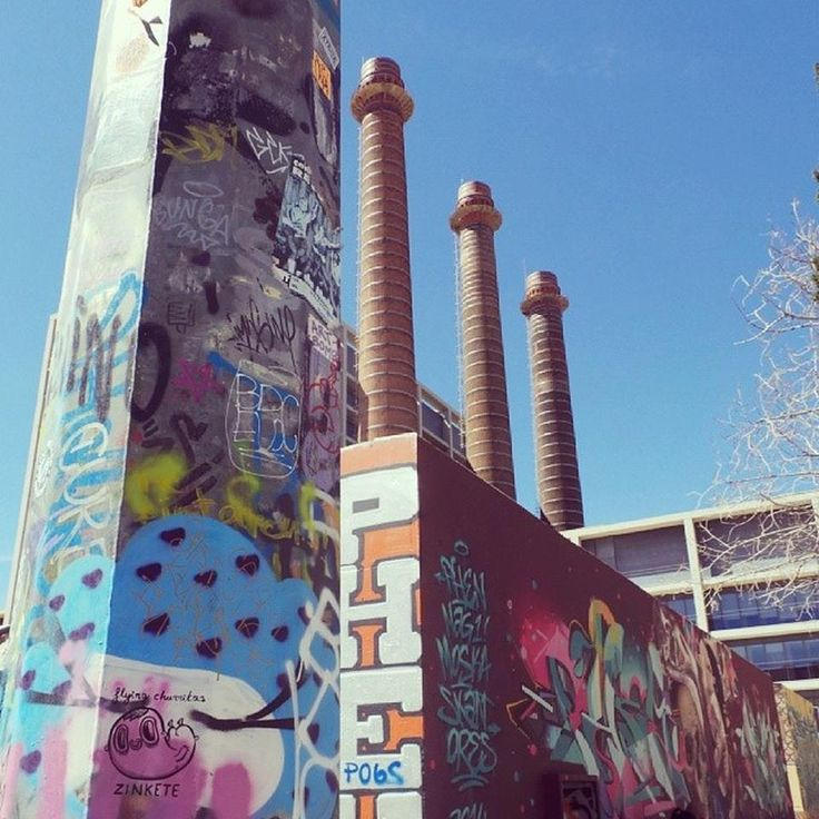 Jardins de les Tres Xemeneies - El Poble Sec - Barcelona, Cataluña