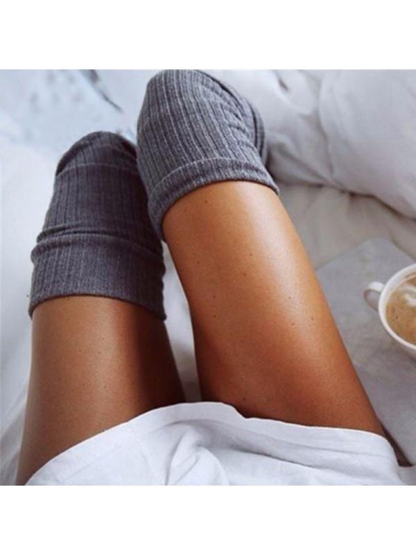 2b636ab31 Babula Women Knit Over Knee High Socks Warm Wool Tight Stockings Knee