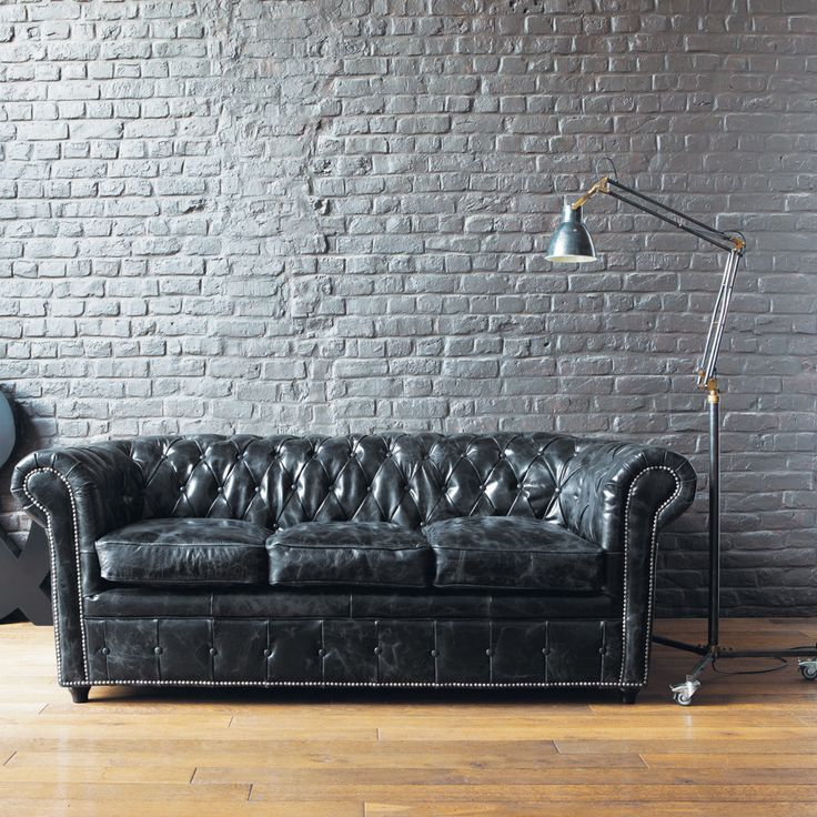 78 ideen zu ledersofa schwarz auf pinterest ledercouch schwarz sofas und couch. Black Bedroom Furniture Sets. Home Design Ideas