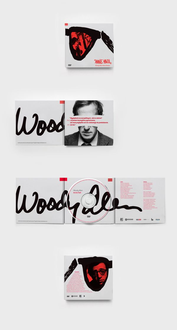 Woody Allen DVD Covers by Kamil Borowski, via Behance