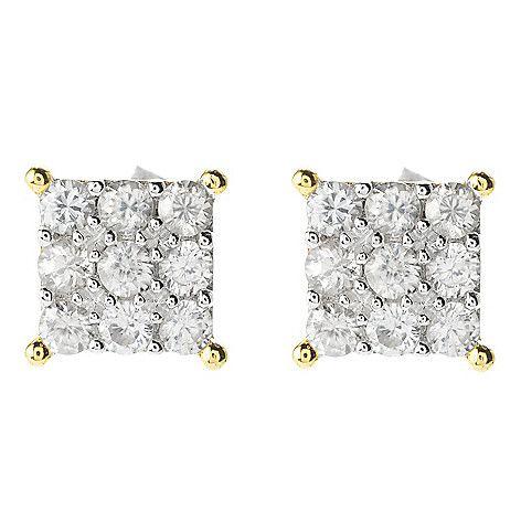 155-701 - Gems en Vogue Choice of Shape Gemstone Cluster Stud Earrings