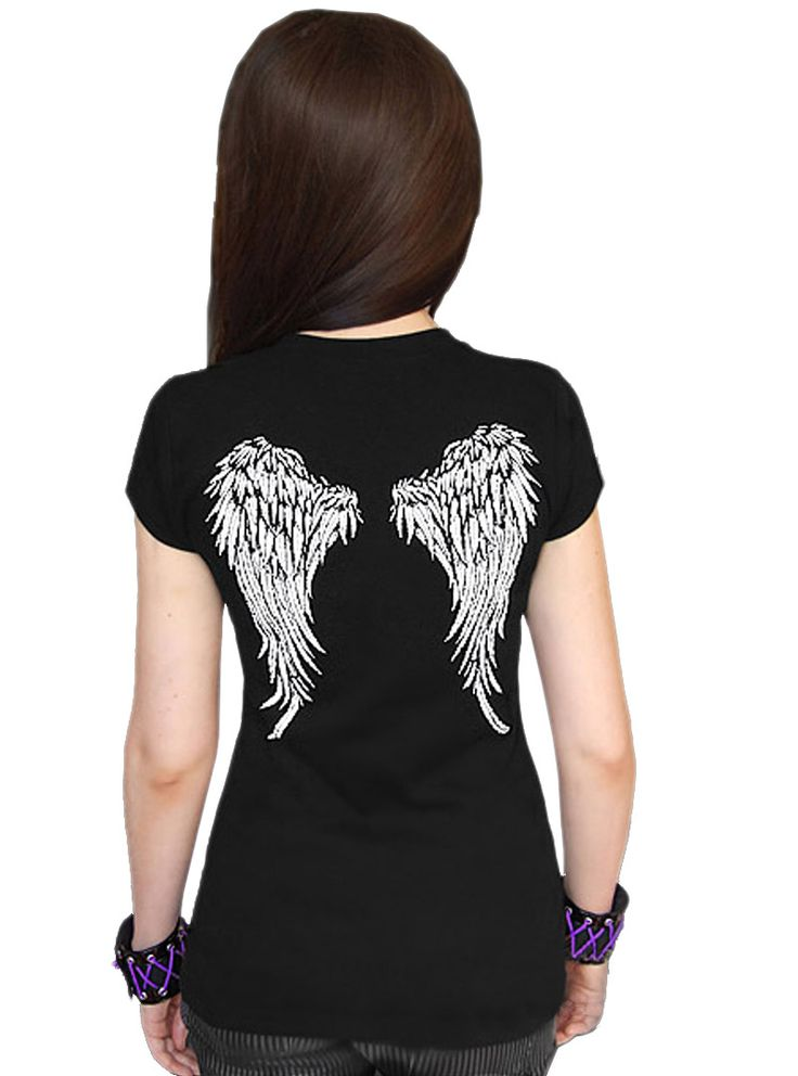 Tee-shirt Gothique Dark Wear Wings