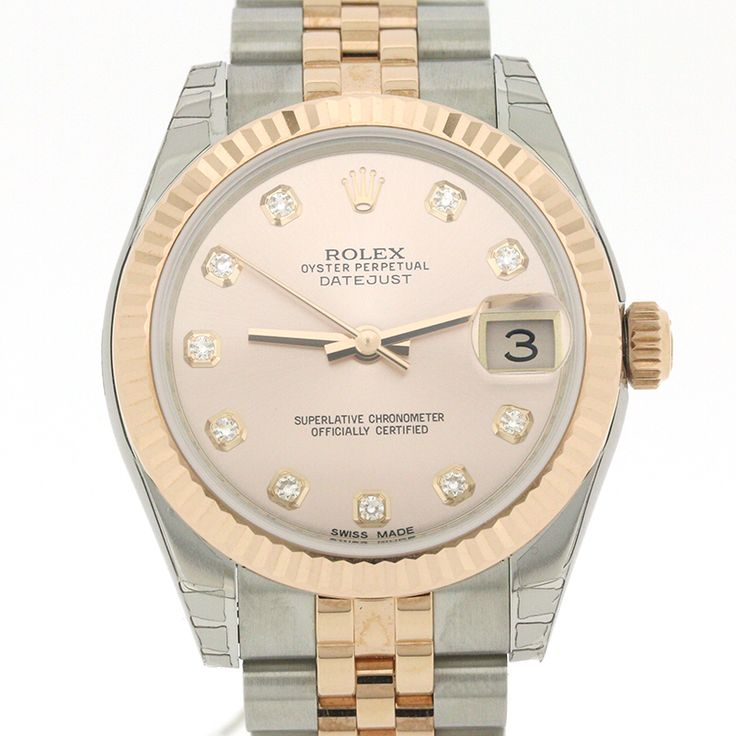 "ROLEX DATEJUST 178271 31MM STAINLESS STEEL ROSE G WHITE[Price]JPY 9,315.00 *Approximately US $ 9,315.00[Condition]""EXCELLENT pre-owned condition"""