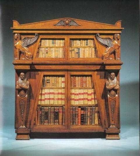 "Bibliophiliac no. 81 libreria ""revival egiziana"" 1830 Who wouldn't? via Luxury Bookshelf"