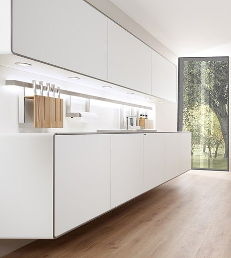 Modular #kitchen with island PIA by Allmilmö | #design Pia Würtz
