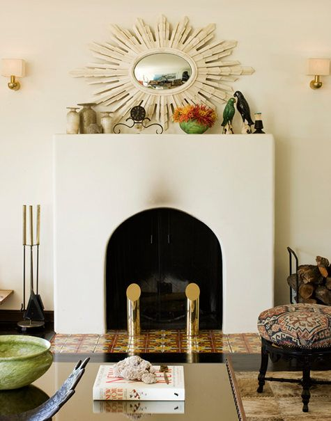 Simple Spanish Fireplace