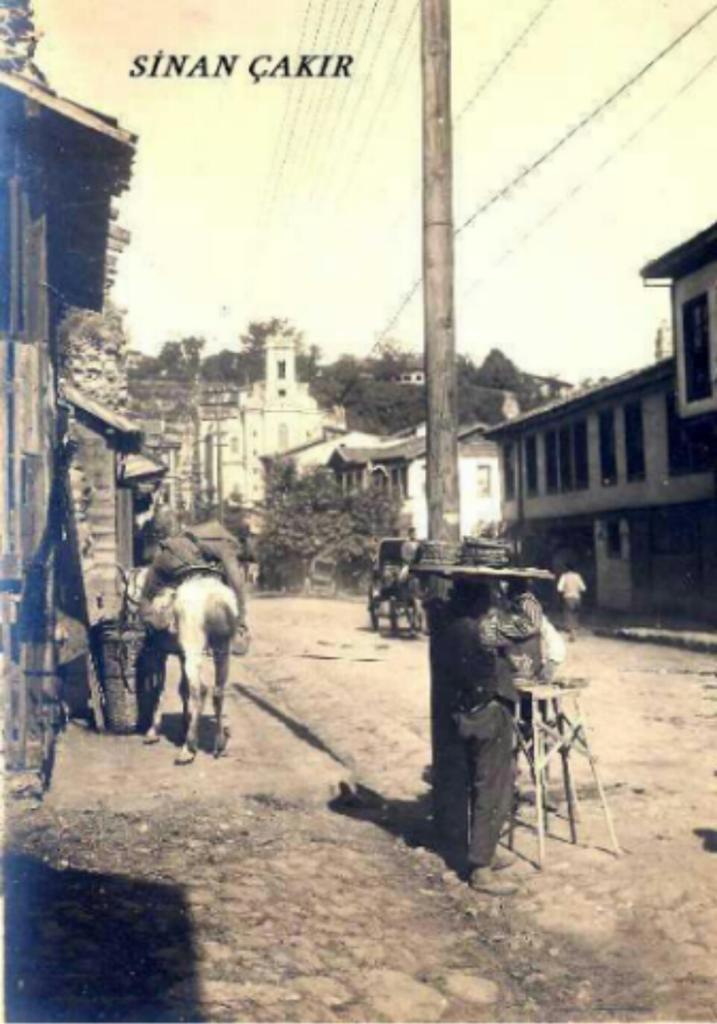 Cumhuriyet Caddesi ve karşıda Tophane yamaçlarında günümüzde olmayan kilise 1900'lerin başı  #Bursa #EskiBursa