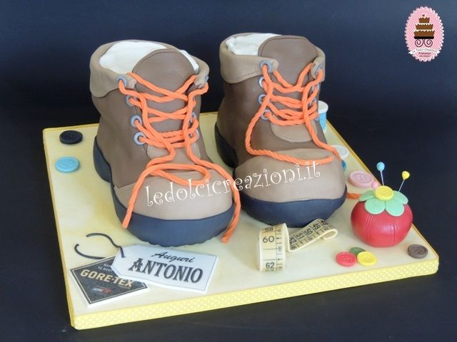 Trekking Boots Cake - by www.ledolcicreazioni.it