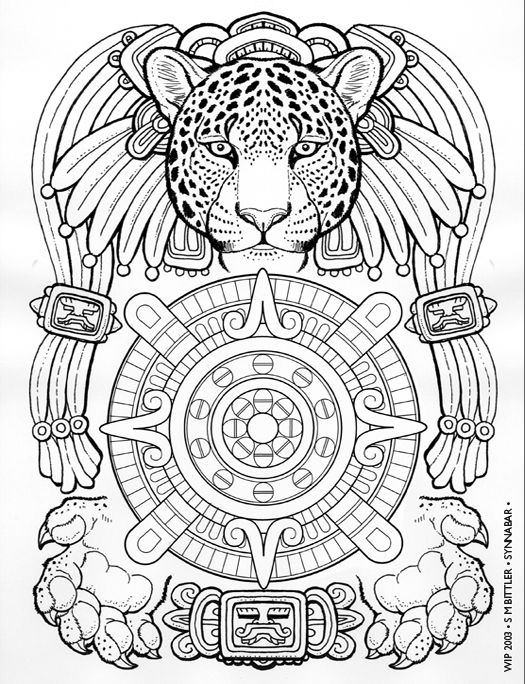 mesoamerican coloring pages - photo#25
