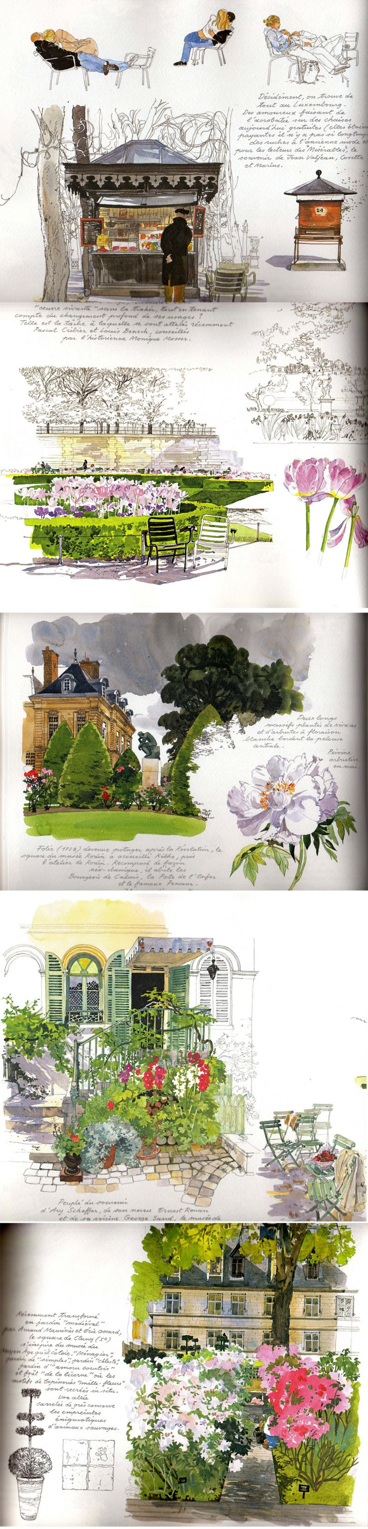 watercolors by Fabrice Moireau