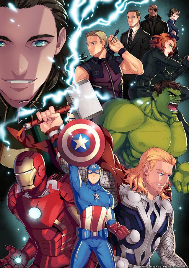 25 Obras de arte espetaculares de 25 artistas diferentes com o tema: Os Vingadores