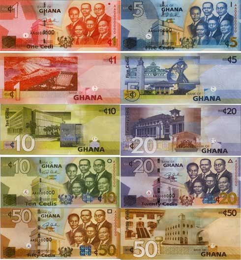 monies from around the world | The Color of Money from Around the World