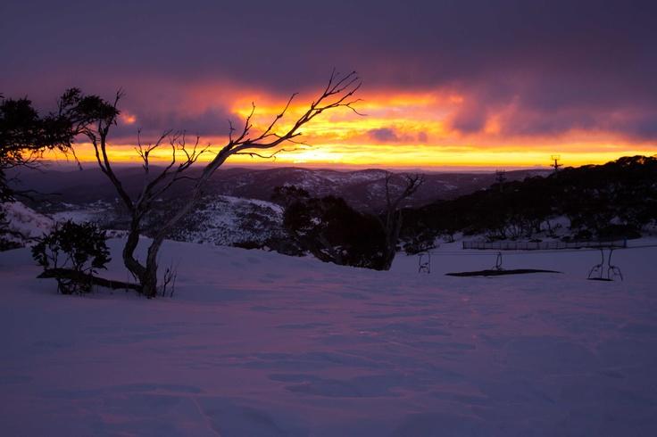 Sunrise at Perisher lookout, Mt Kosciuszko National Park, Australia.