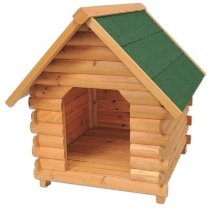 The Mountain Cabin Dog House Size: Medium, Finish: Honey