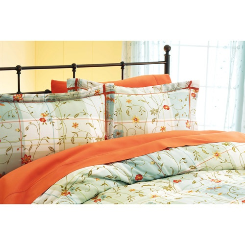 Better Homes And Gardens 4 Piece Posies Plaid Comforter Set Better Homes And Gardens Home