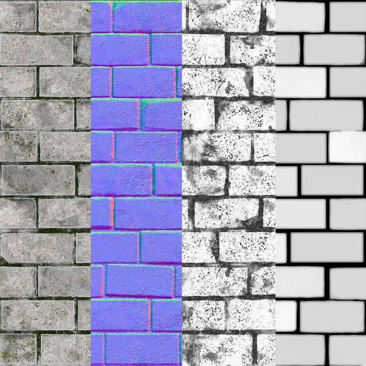 ArtStation - Medieval Bricks , Moses Saintfleur