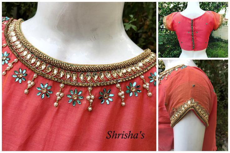 Shrishas Fashion Designer. Contact : 098946 14882.