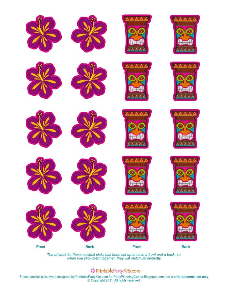 Please scroll down and click on the free printable luau cocktail party picks template further down on the page. That will allow you to see ...