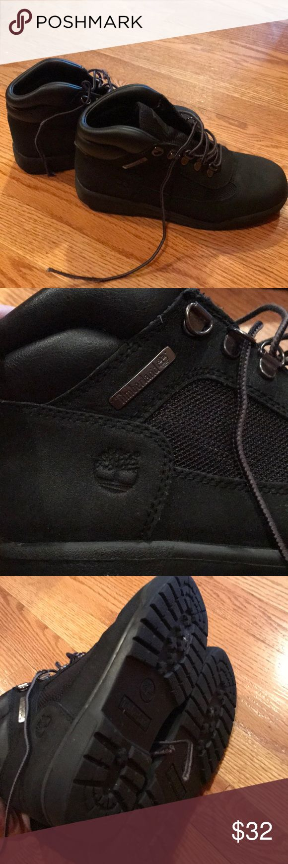 Timberland boys boots Very warm and durable boys timberland boots. Perfect condition except for the one of the shoelaces being frayed (see pic). Timberland Shoes Boots