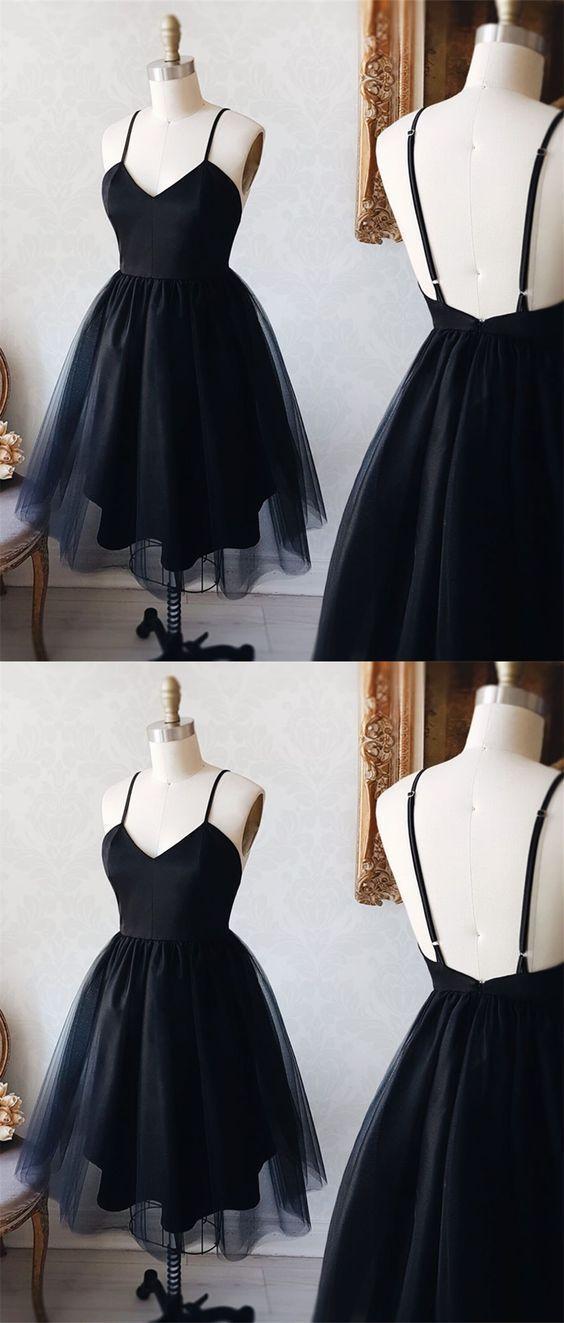 A-Line Spaghetti Straps Homecoming Dresses,Short homecoming Dresses C681