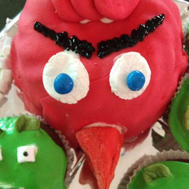 Angry bird cake I made for my nephew Jackson today on his 3rd birthday. He loved it!