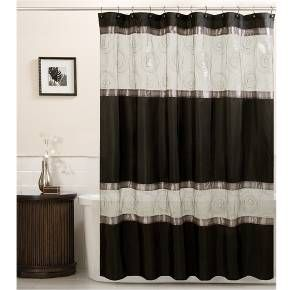 Marco Fabric Shower Curtain - Black : Target