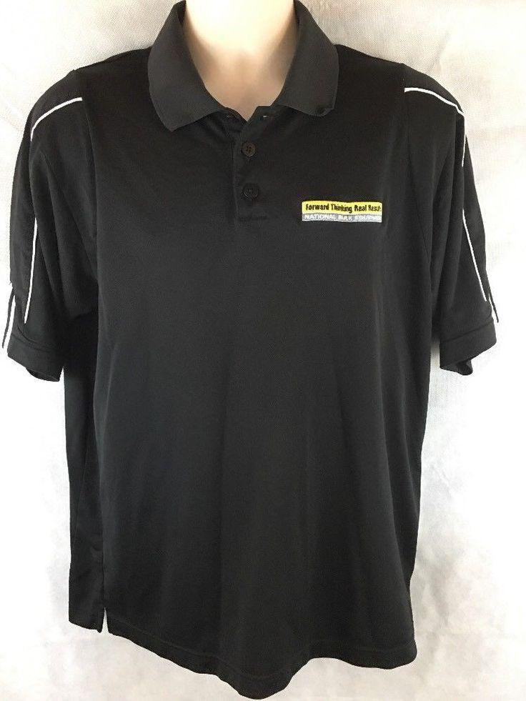 Adidas Climalite Black Men's Golf Polo Shirt Size Medium National Bulk Equipment #adidas #PoloRugby