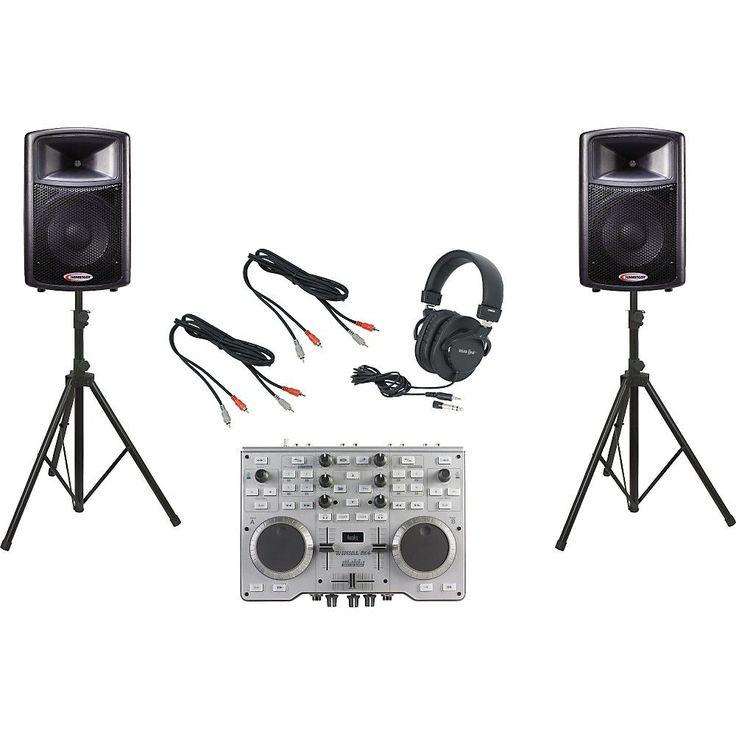 Hercules DJ DJ Console MK4 / Harbinger APS12 DJ Package