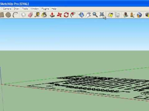How to Import an Autocad file using Google Sketchup - YouTube