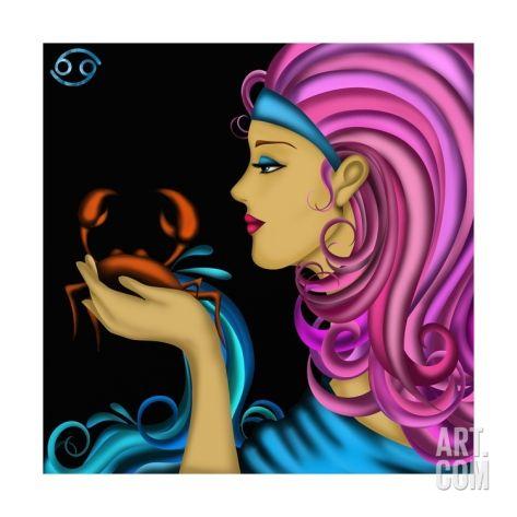 Segni Zodiacali - Cancro Art Print by goccedicolore at Art.com