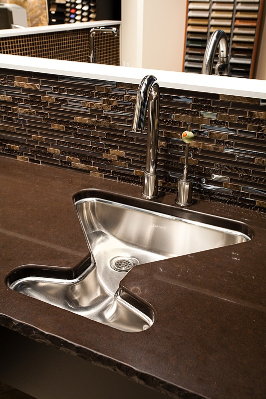 Great Martini Sink For A Bar With Olive Handle. If I Ever Have A Bar In My  House This Is A Must!