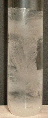 How to Make a Storm Glass To Predict the Weather: Crystals have formed in this storm glass prior to the arrival of a storm.