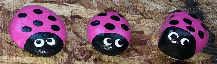 Hand Painted Ladybug Rocks