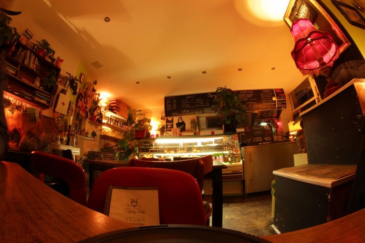 Dining room of #Sfizyveg taken with a fish eye lens.