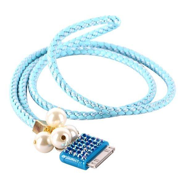 Bling Håndleddstropp for iPod/iPhone 3GS/4/4S (Lyse Blå)