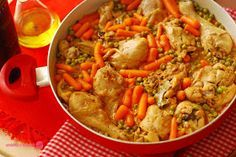 Cuchillito y Tenedor: Pollo a la jardinera.