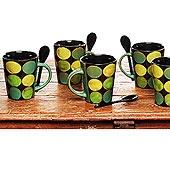 Dotty Southwestern Stir Mugs